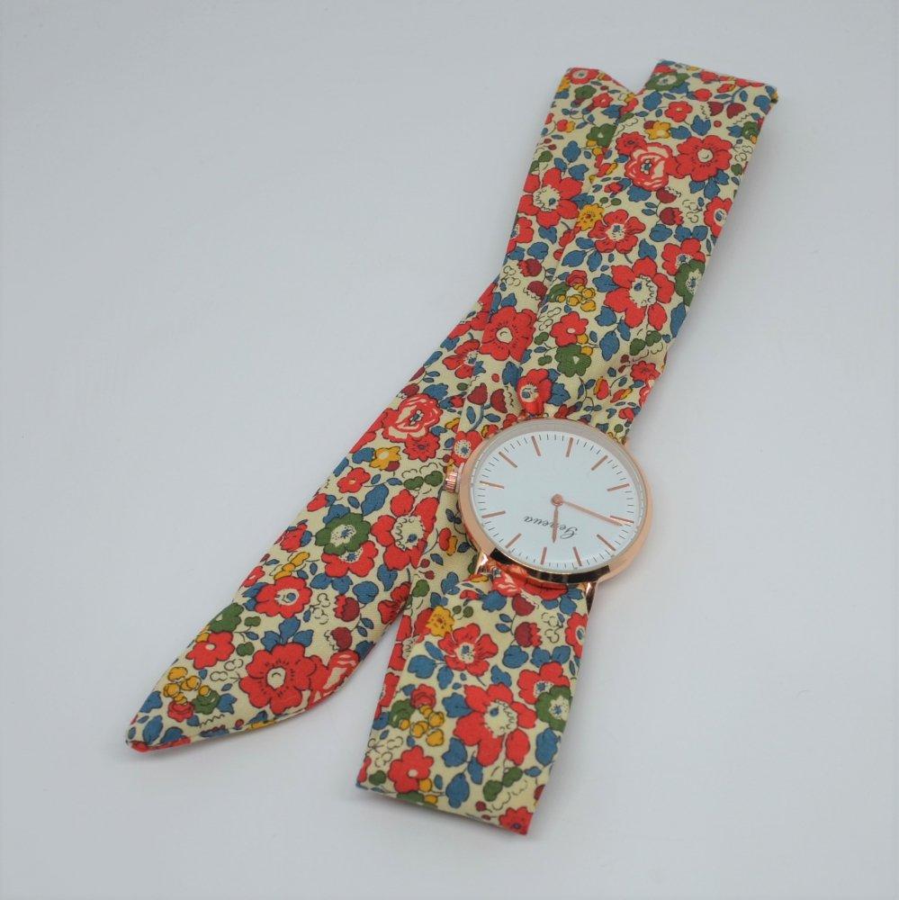 Montre à nouer bracelet Liberty Betsy ann brique COMMANDE MARION--2226253777119