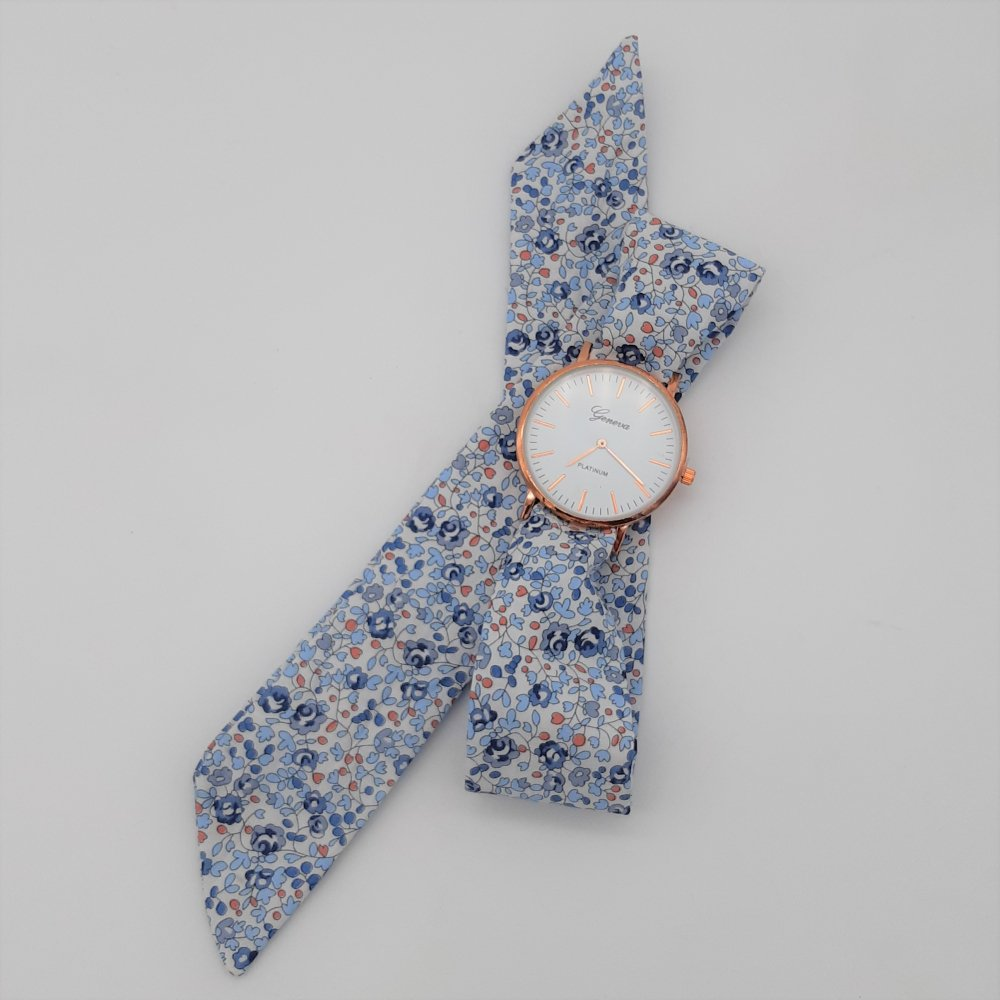 Montre à nouer bracelet Liberty Eloise bleu--2226169629045