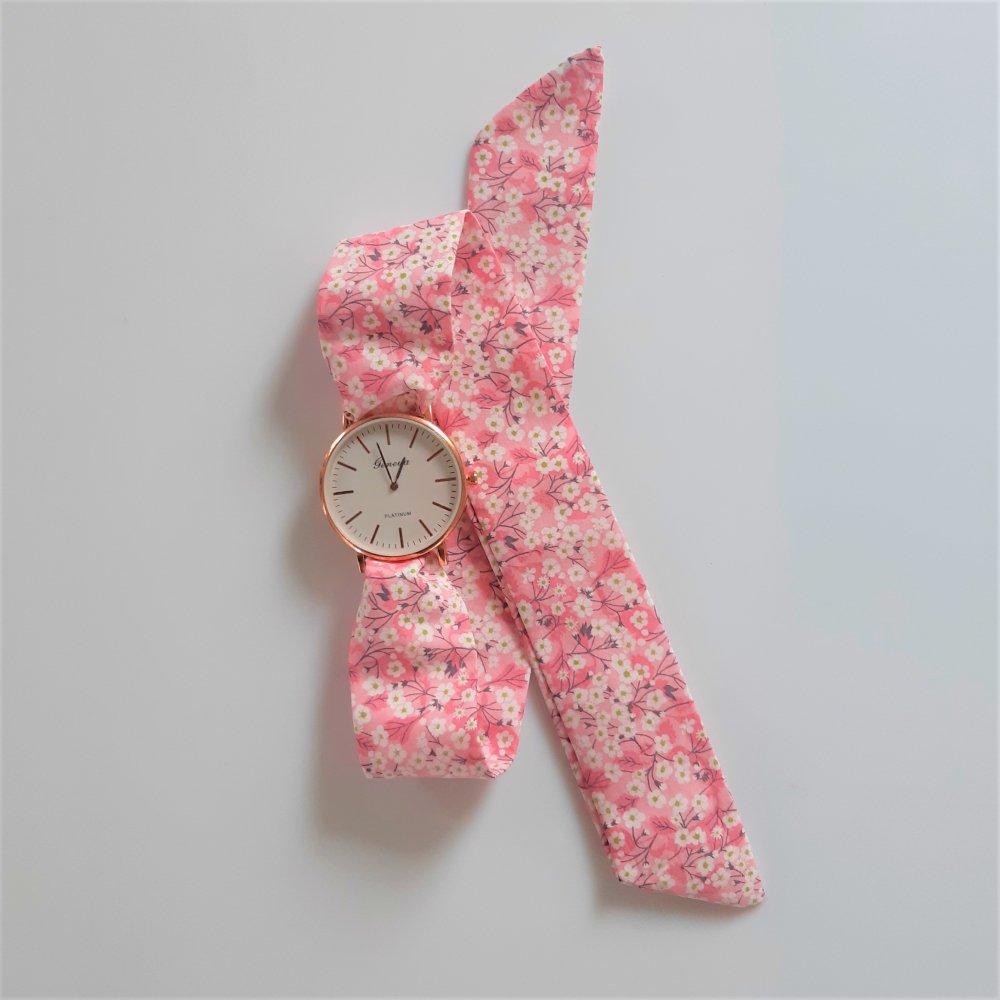 Montre à nouer bracelet Liberty Mitsi valeria rose--2226201069358