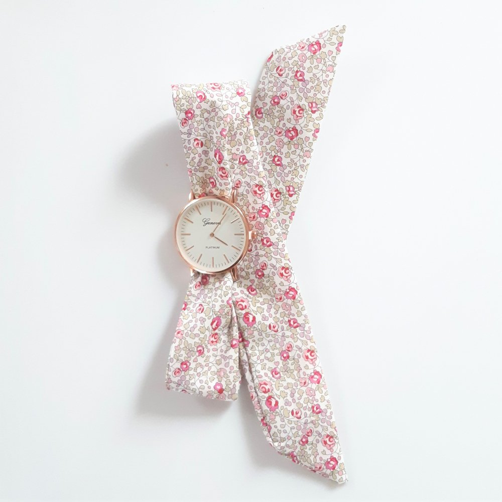 Montre à nouer bracelet Liberty Eloise rose--2226194682381
