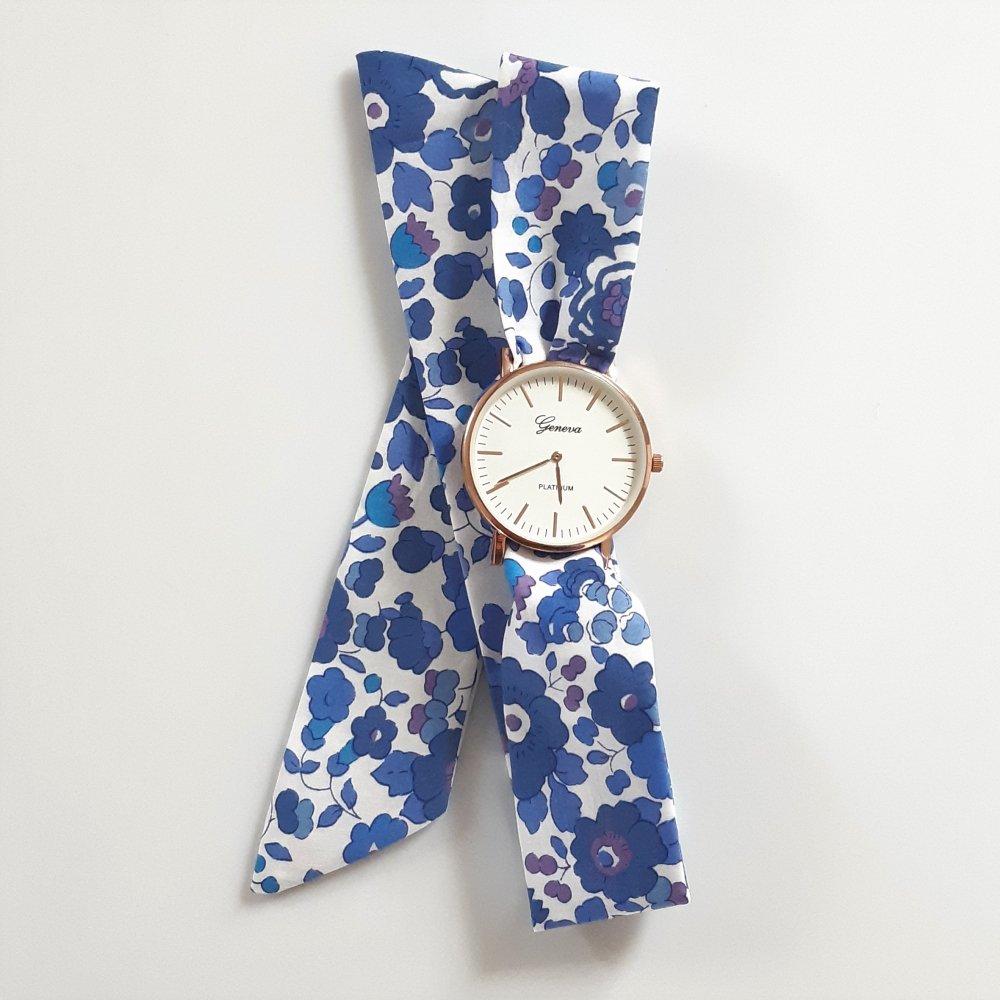 Montre à nouer bracelet Liberty Betsy lavande--2226195031577