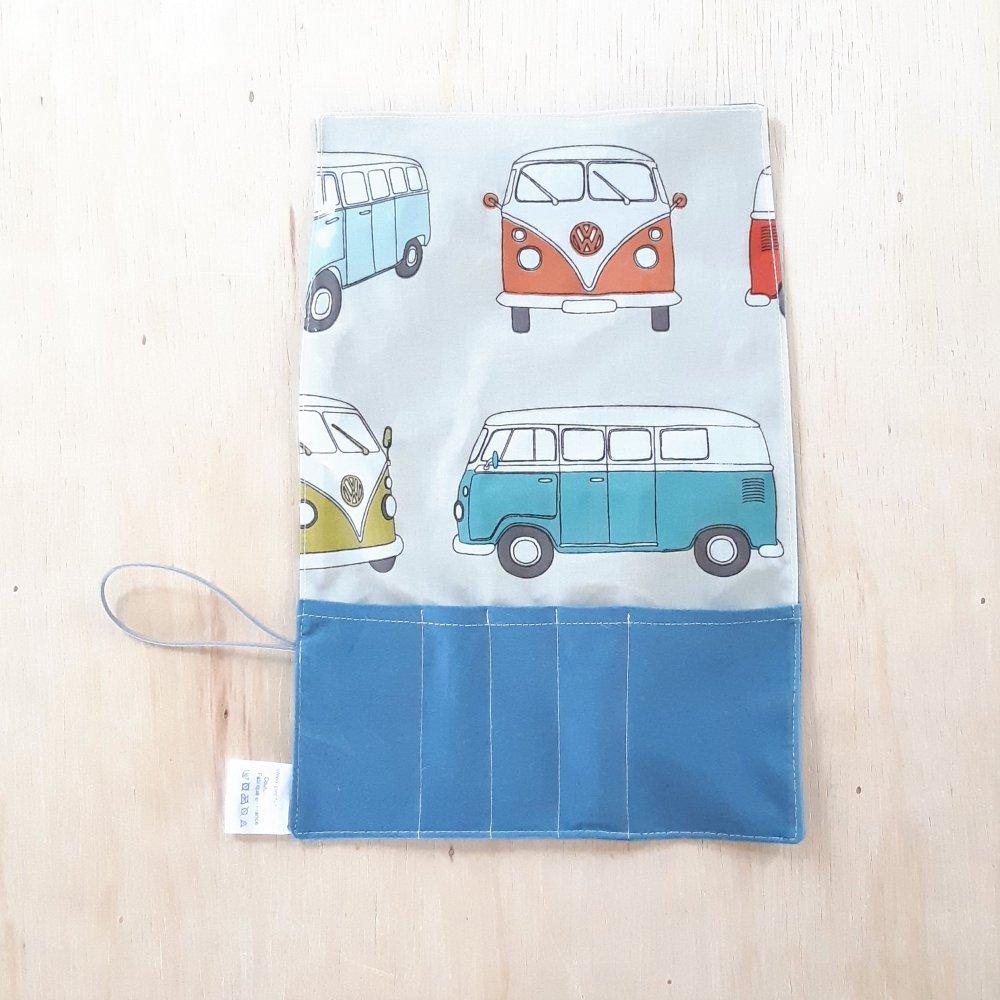 Trousse imperméable pour transporter les couverts combi/bleu--2226203984642