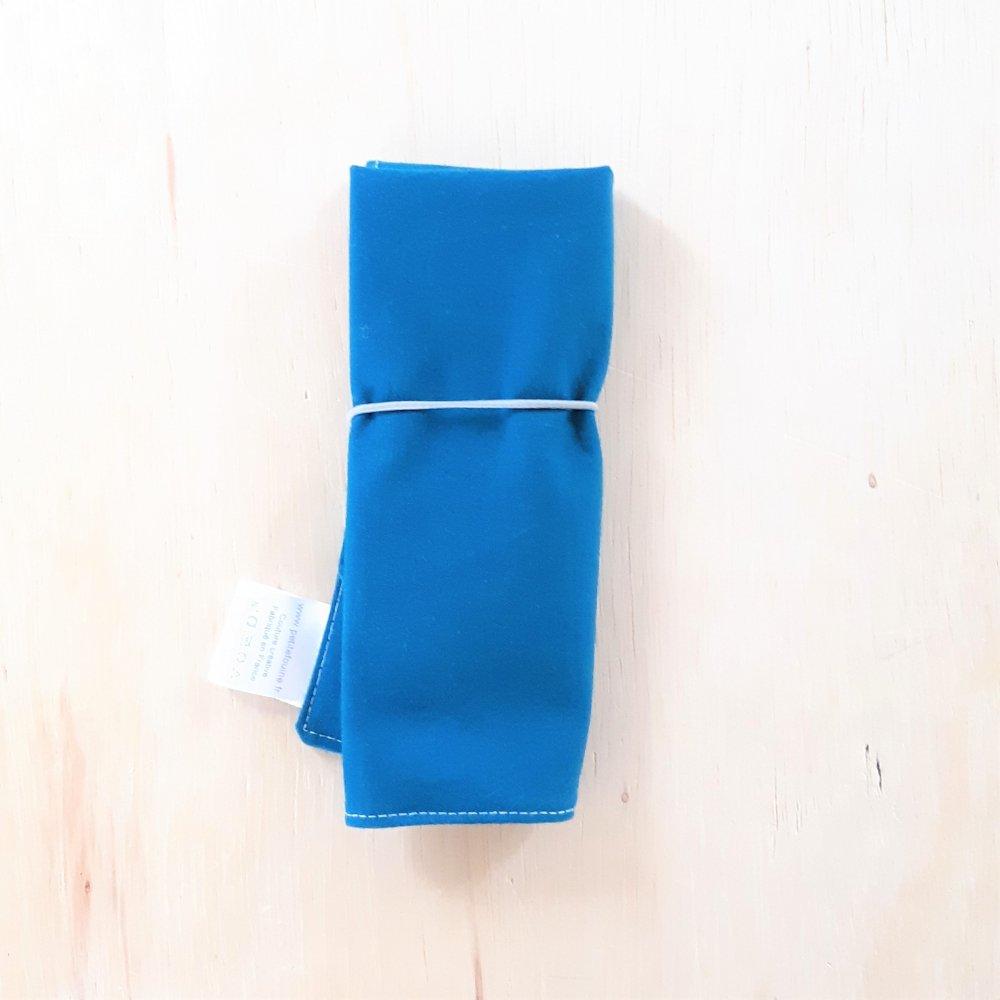Trousse imperméable pour transporter les couverts motif chevron--2226184204029