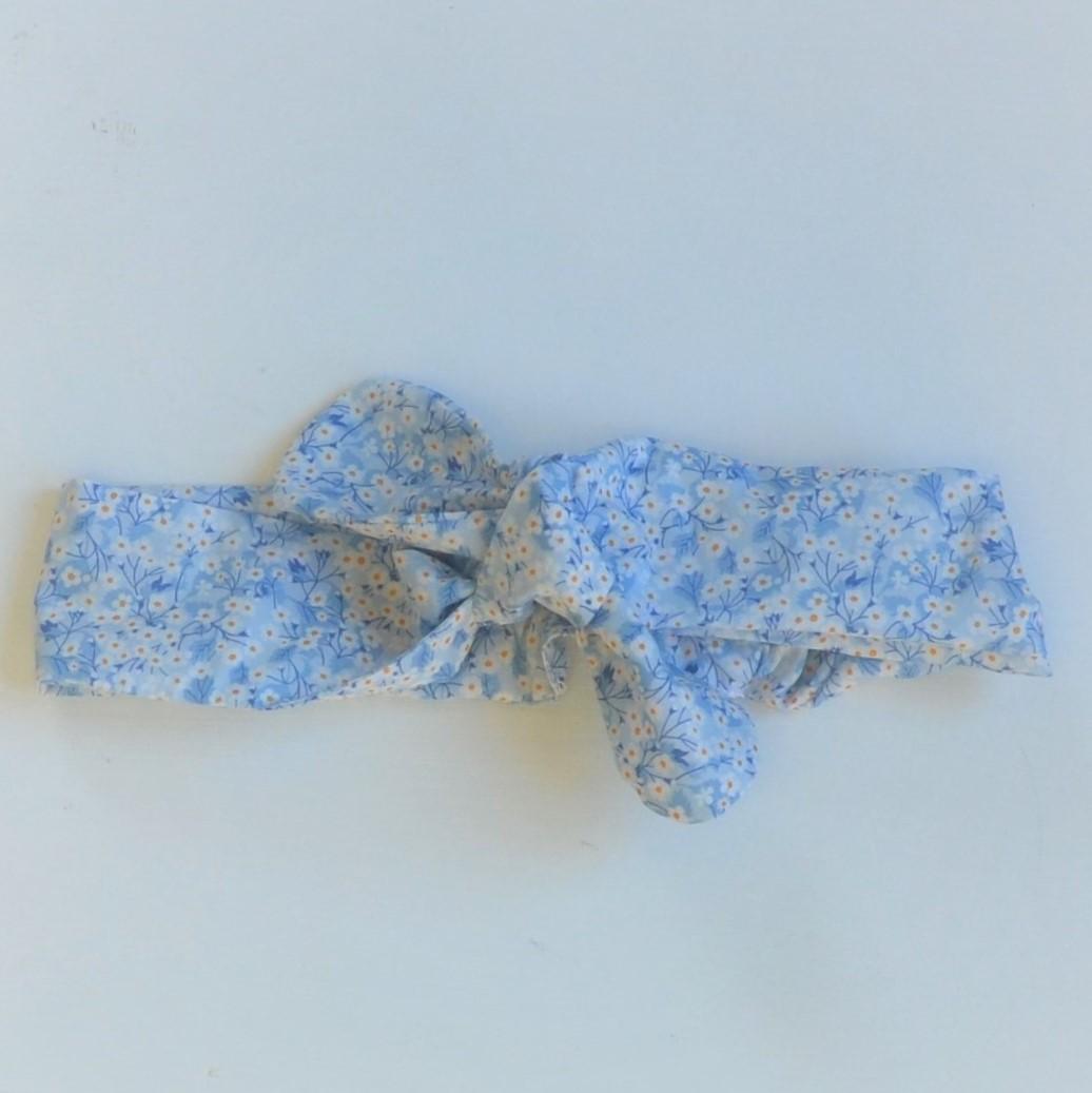 Bandeau à nouer liberty  taille ajustable Mitsi valeria bleu--9995510977366
