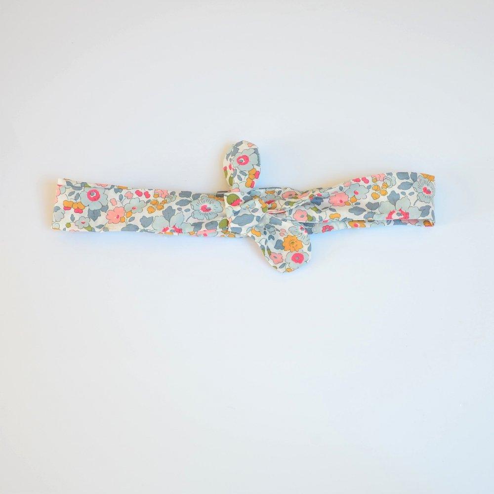 Bandeau à nouer taille ajustable liberty Betsy porcelaine--9995867837276