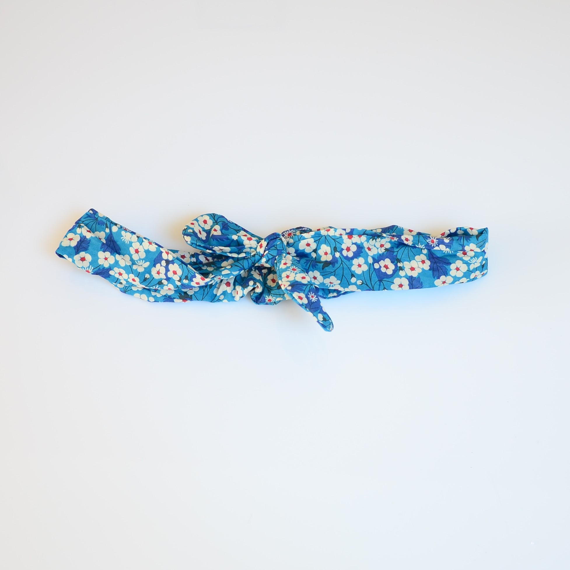 Bandeau à nouer taille ajustable liberty Mitsi Blue Deep--9995867829158