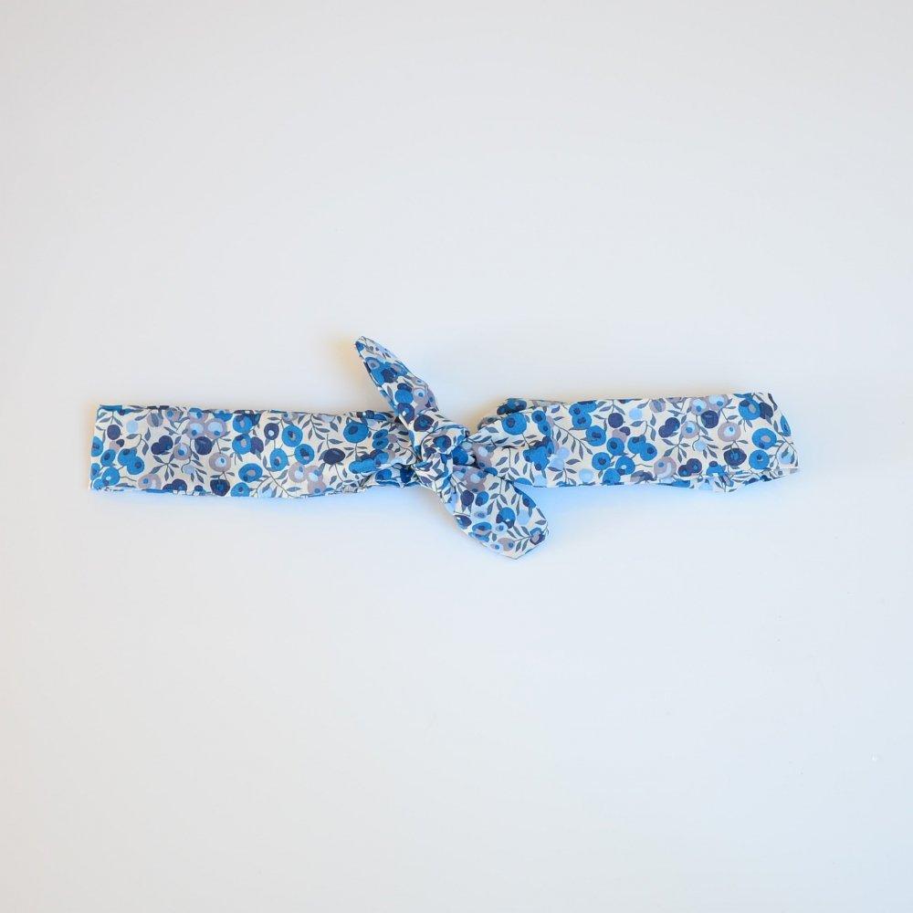 Bandeau à nouer taille ajustable liberty Wiltshire bleu--9995867831588