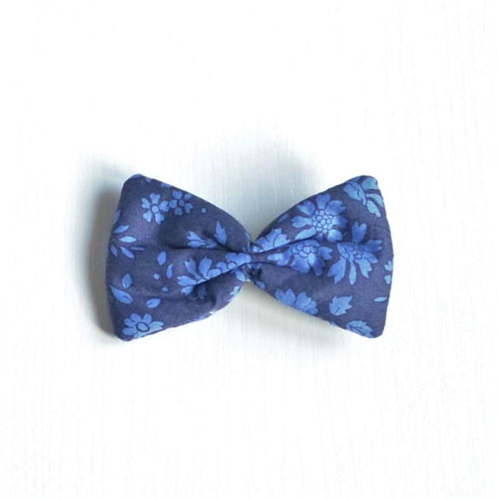 Barrette Liberty Capel bleu nuit petite taille--9995348349229