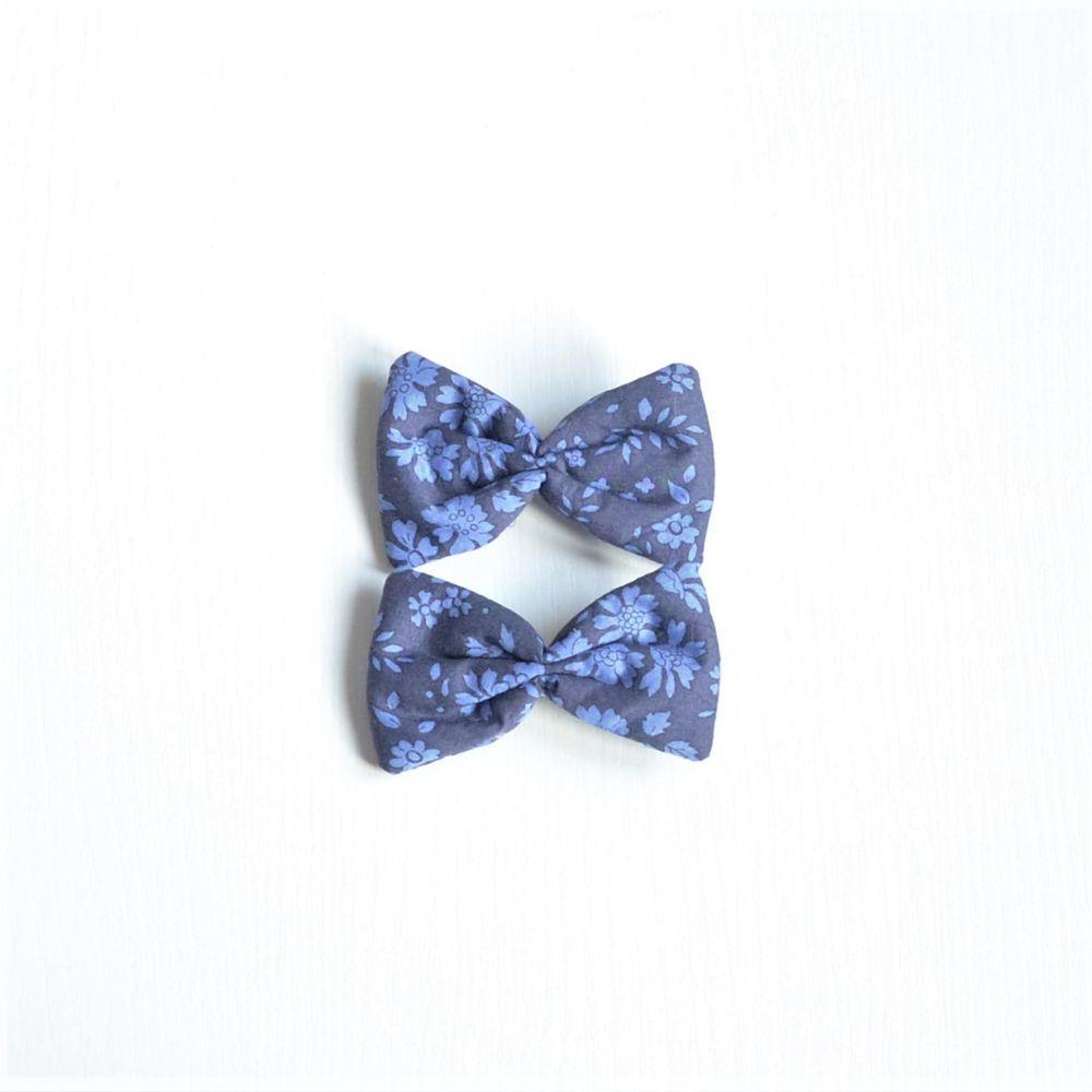 Barrette Liberty Capel bleu nuit petite taille lot de deux--9995351028333
