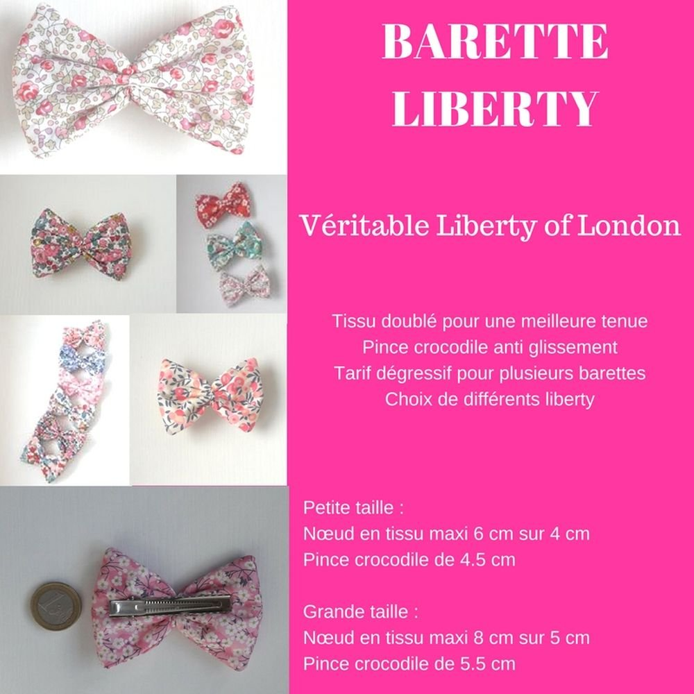 Barette Liberty whilthsire rouge rose grande taille--9995232166406