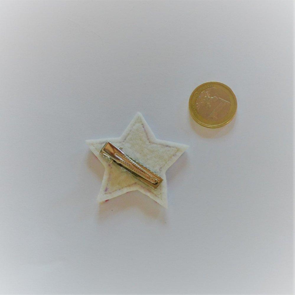 Barrette Etoile petite taille Liberty Mitsi rose. Lot de 2--9995867969847