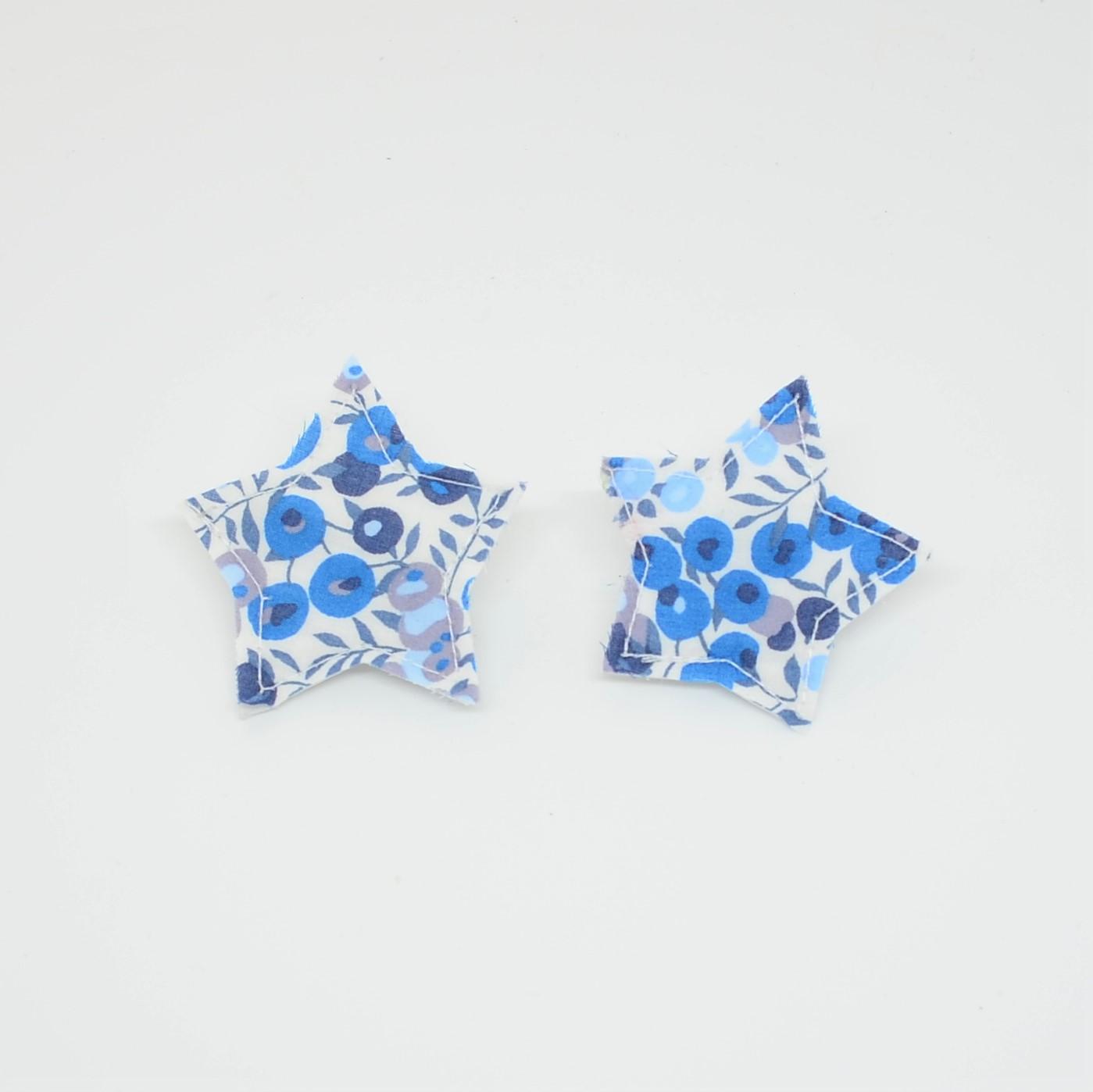 Barrette Etoile petite taille Liberty Wiltshire bleu. Lot de 2--9995867958926