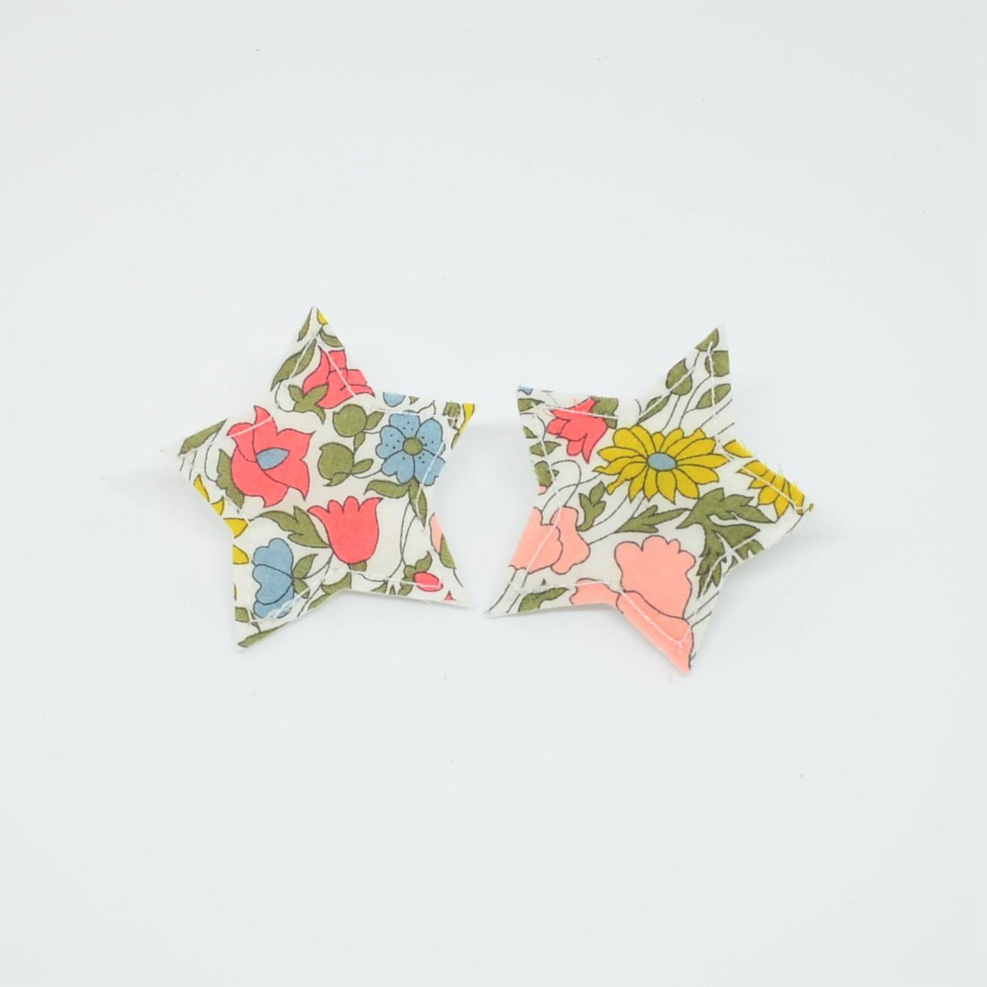 Barrette Etoile petite taille Liberty Poppy and daisy venus. Lot de 2--9995867972014