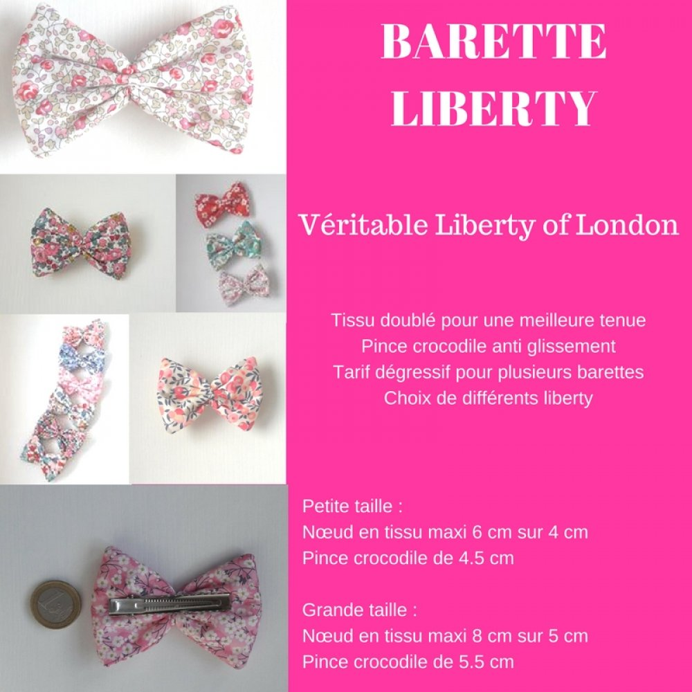 Barrette Liberty Betsy ann sweet pink petite taille--9995365071226