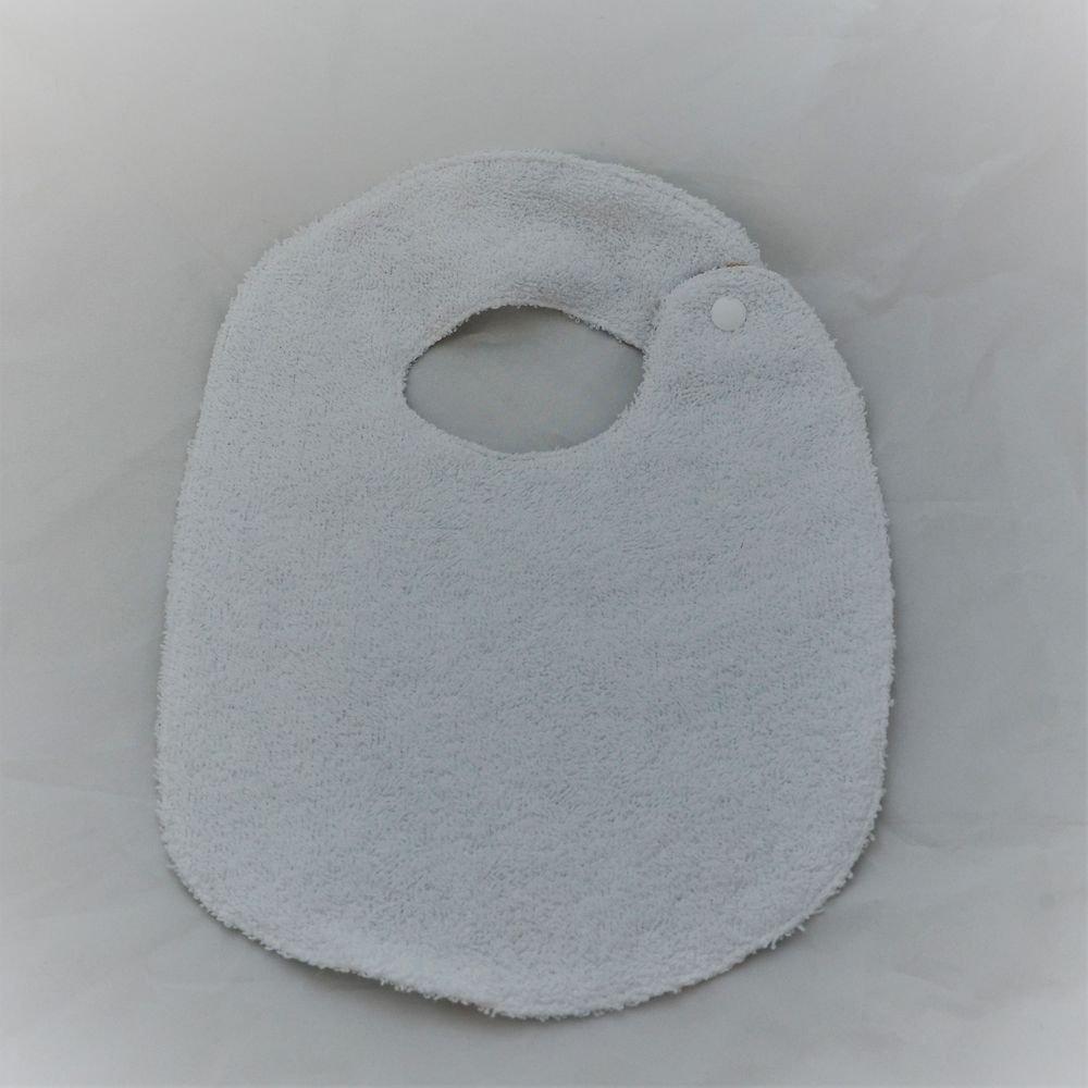 Bavoir première année Liberty Mitsi bleu et éponge blanche--9995346938074