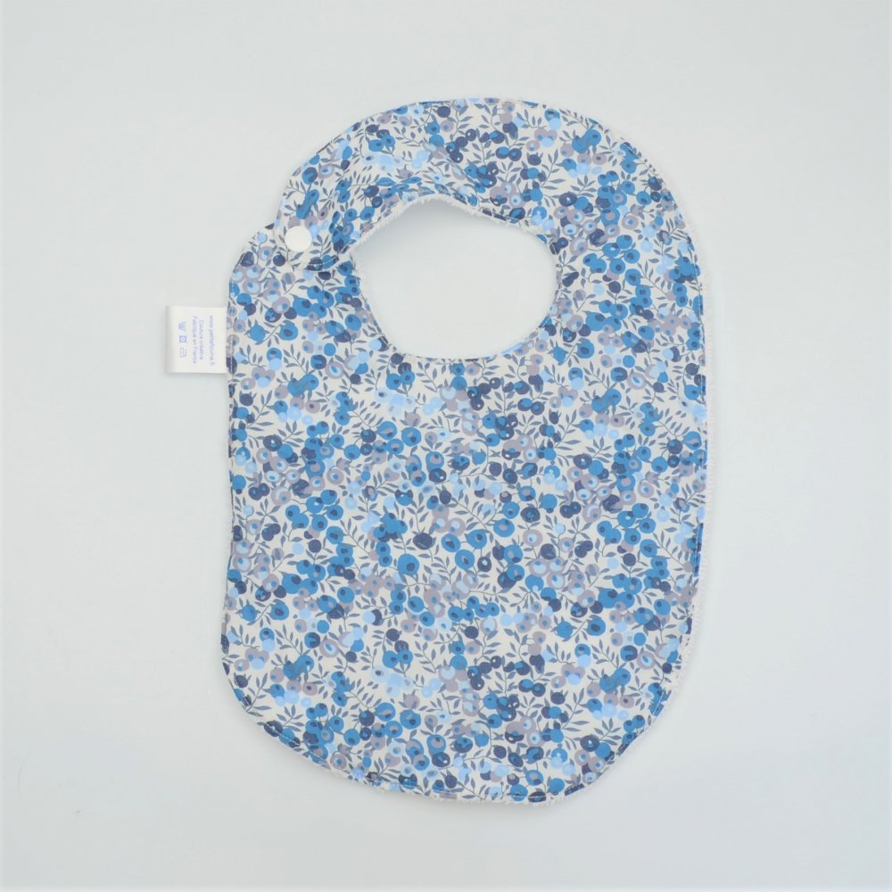 Bavoir Liberty Wiltshire bleu et éponge blanche--9995546423486