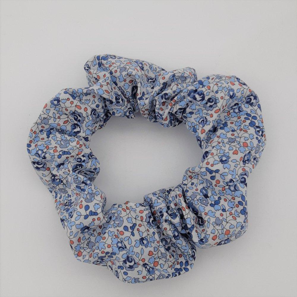 Chouchou cheveux scrunchie Liberty Eloise bleu--2226171897180