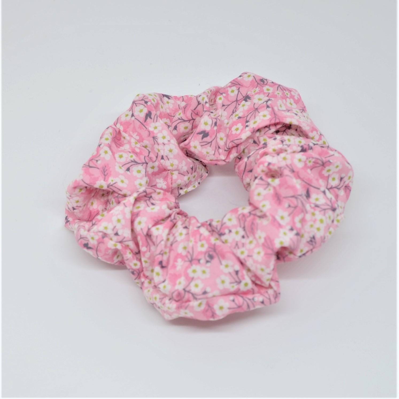 Chouchou cheveux scrunchie liberty Mitsi valeria rose--9996013118348