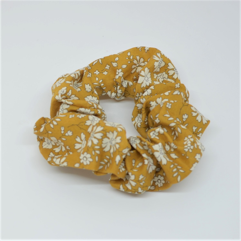 Chouchou cheveux scrunchie liberty Capel moutarde--9996013119628