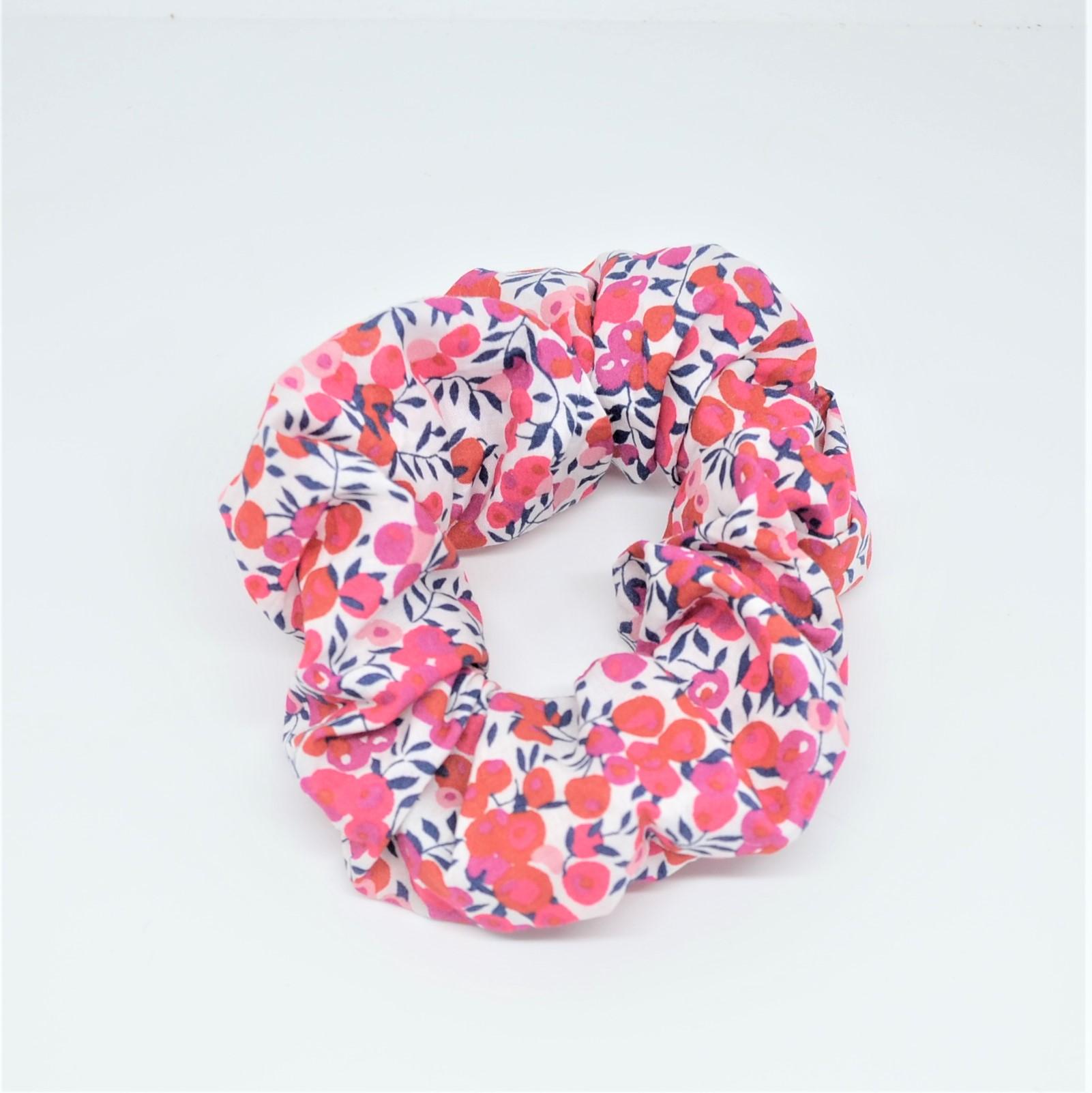 Chouchou cheveux scrunchie liberty Wiltshire rouge--9996010490027