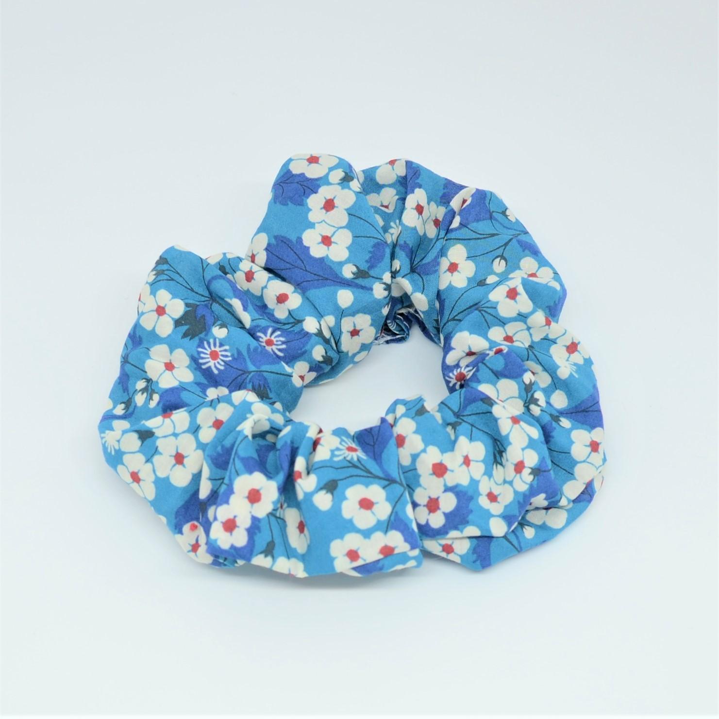 Chouchou cheveux scrunchie liberty Mitsi blue deep--9996010517205