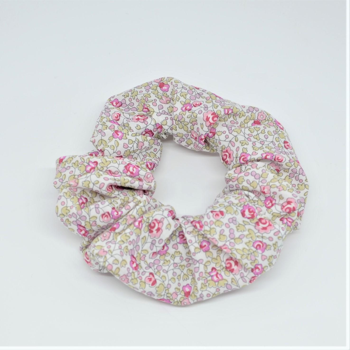 Chouchou cheveux scrunchie liberty Eloise rose--9996010518141