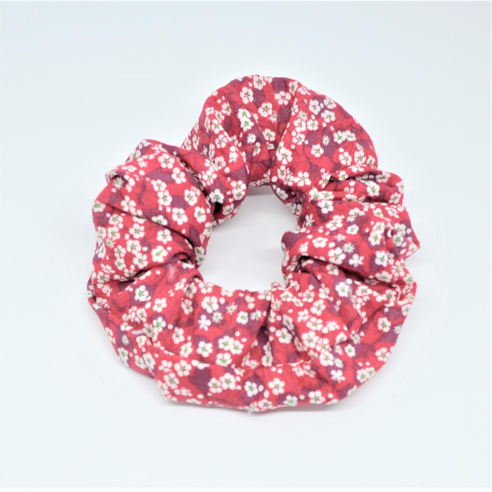 Chouchou cheveux scrunchie liberty Mitsi valeria rouge--9996010520625