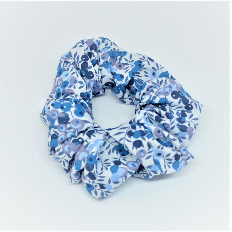Chouchou cheveux scrunchie liberty Wiltshire bleu--9996010513405