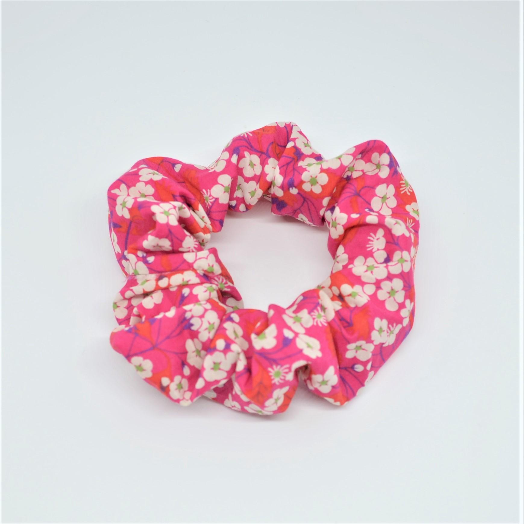 Chouchou cheveux scrunchie liberty Mitsi rose--9996010519766