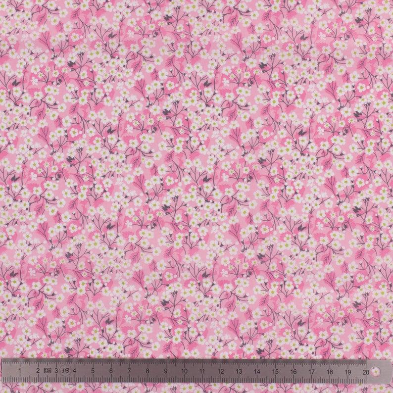 Couverture doudou Liberty Mitsi valeria rose--9995830901072