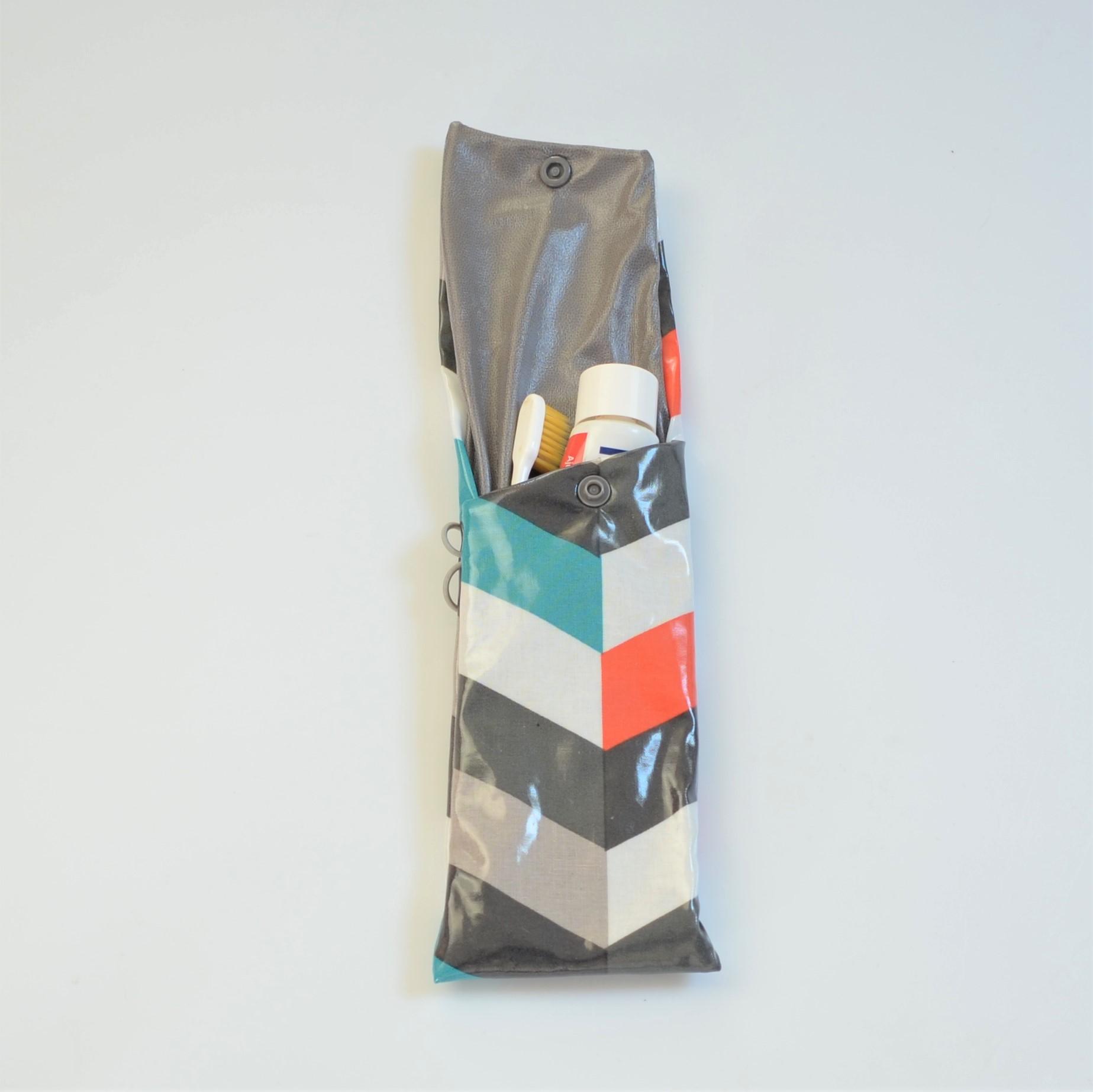 Etui imperméable pour brosse à dent et dentifrice chevron--9995971564662