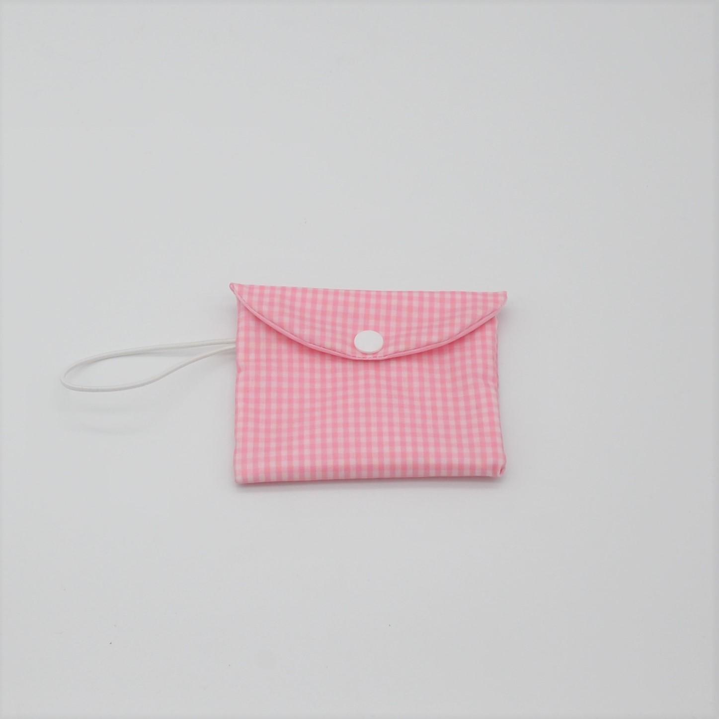 Etui imperméable savon motif vichy rose--9995825791947