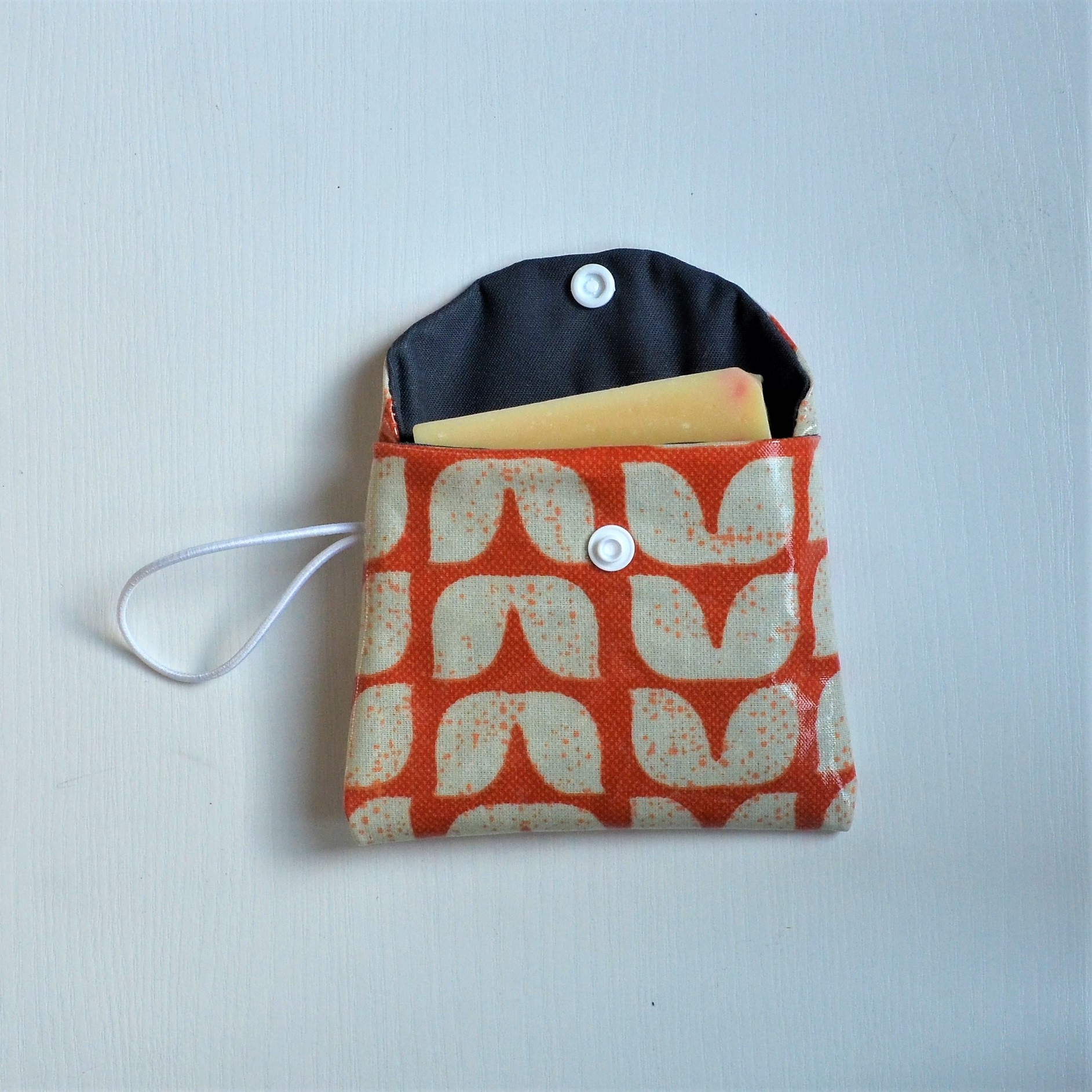 Etui imperméable savon vintage orange--9995506745665