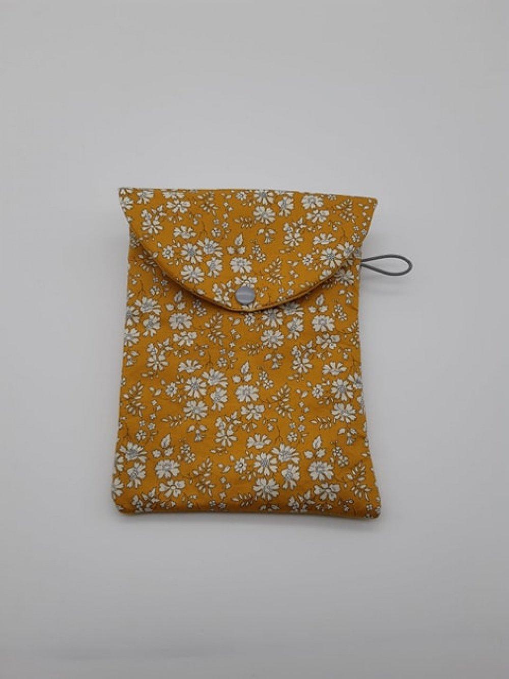 Pochette liseuse/livre Liberty Capel moutarde--9996014077200