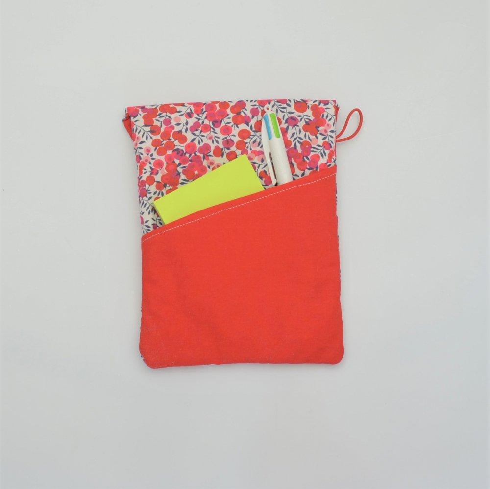 Etui liseuse/livre Liberty Wiltshire rouge--9996014084819