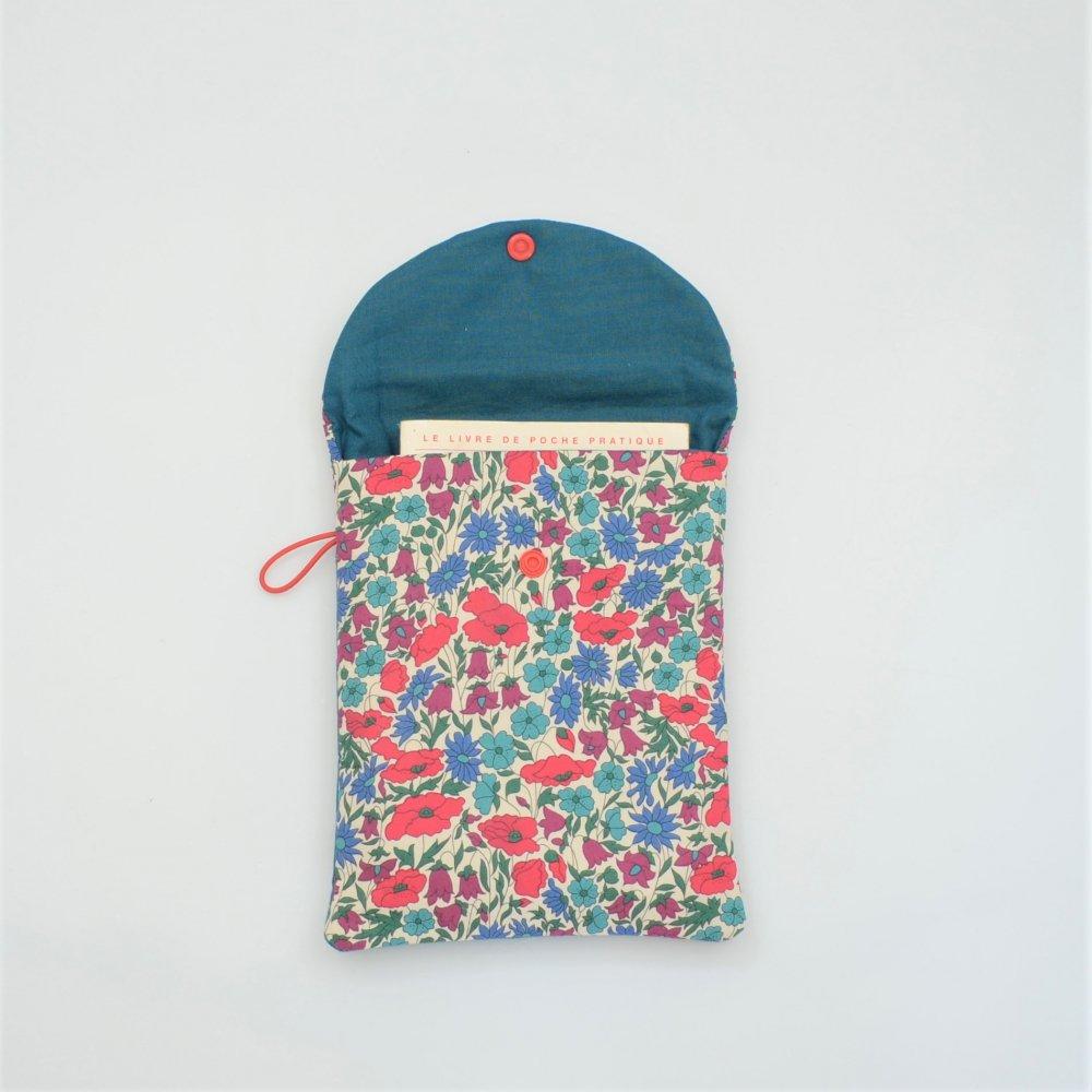Etui liseuse/livre Liberty Poppy and daisy canard--9996014057660