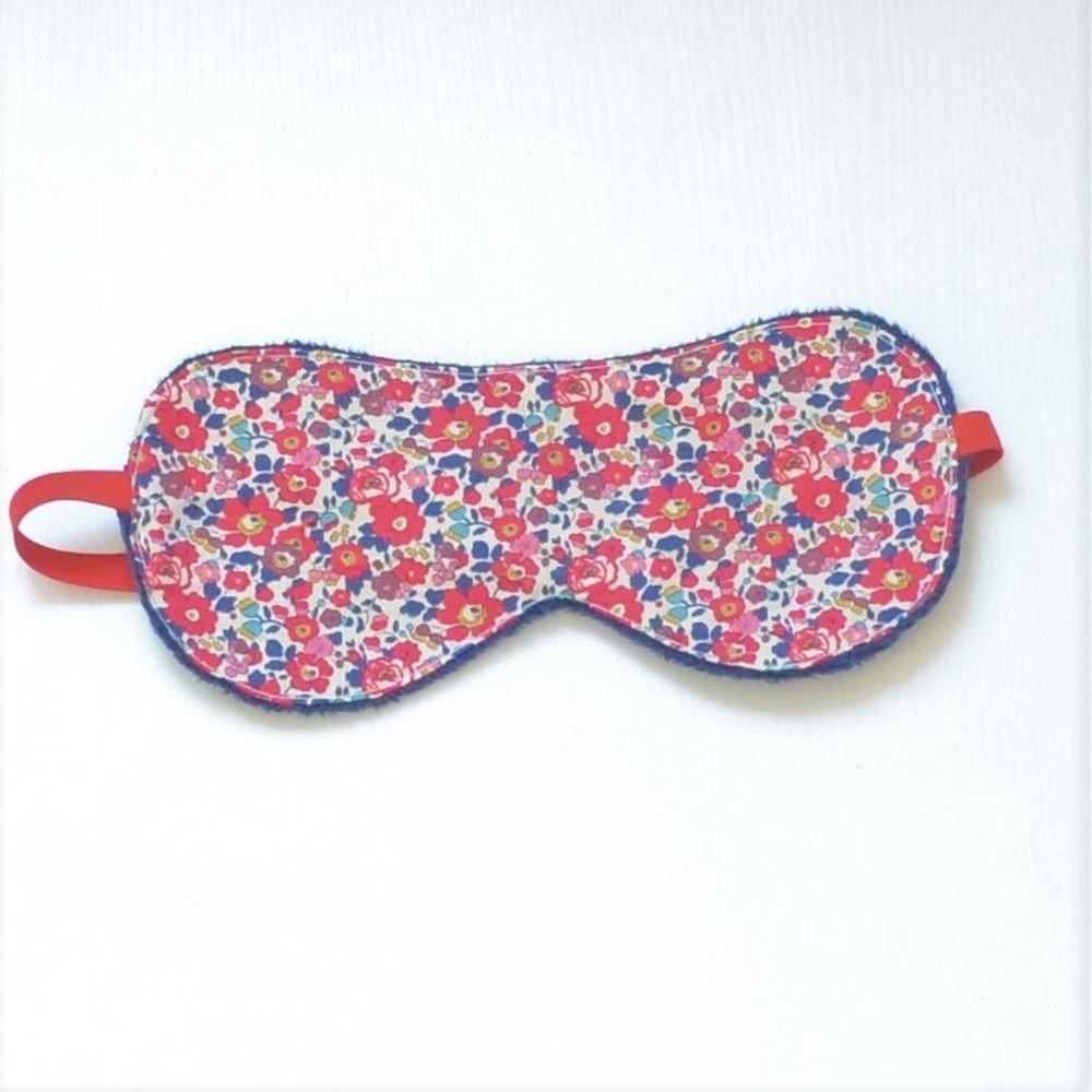 Masque de sommeil Liberty Betsy ann rouge--9995346772586