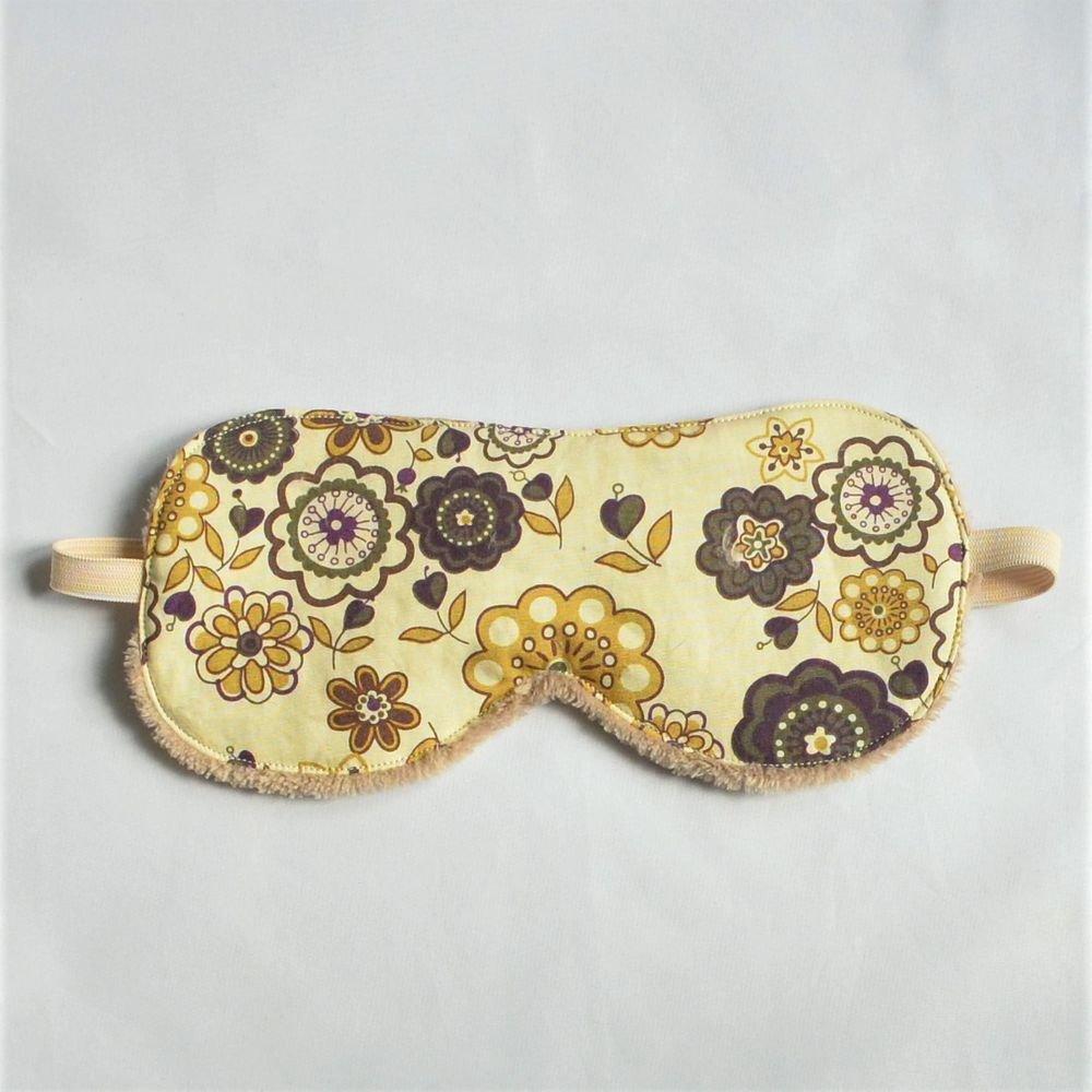 Masque de sommeil Liberty Lauren marron et moutarde--9995409102008