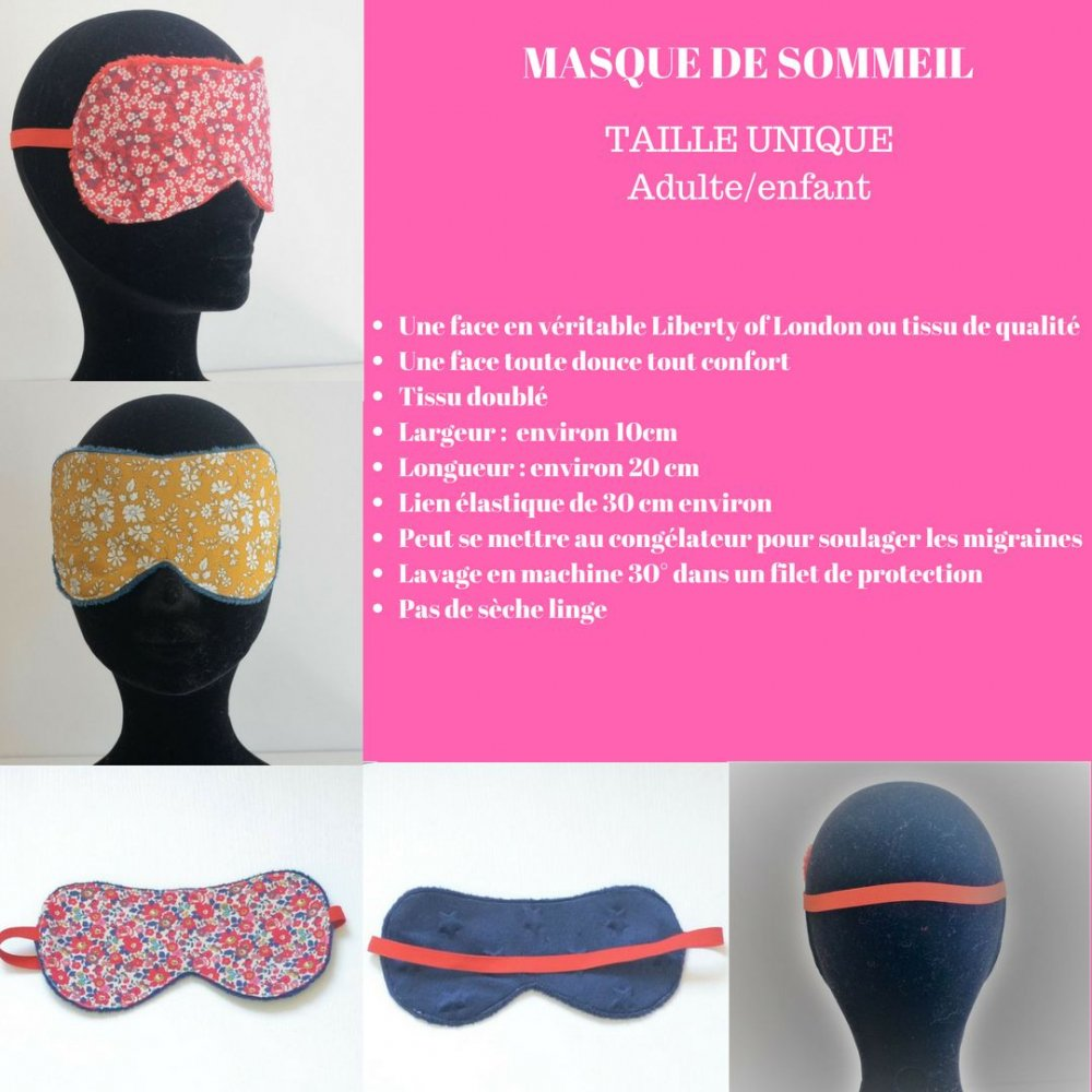 Masque de sommeil Liberty Mitsi moutarde--9995881392133