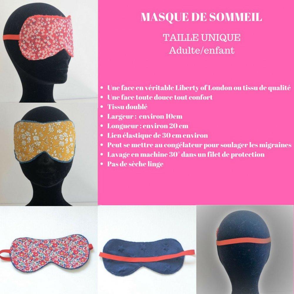 Masque de sommeil Liberty Mitsi valeria rose--9995346795387