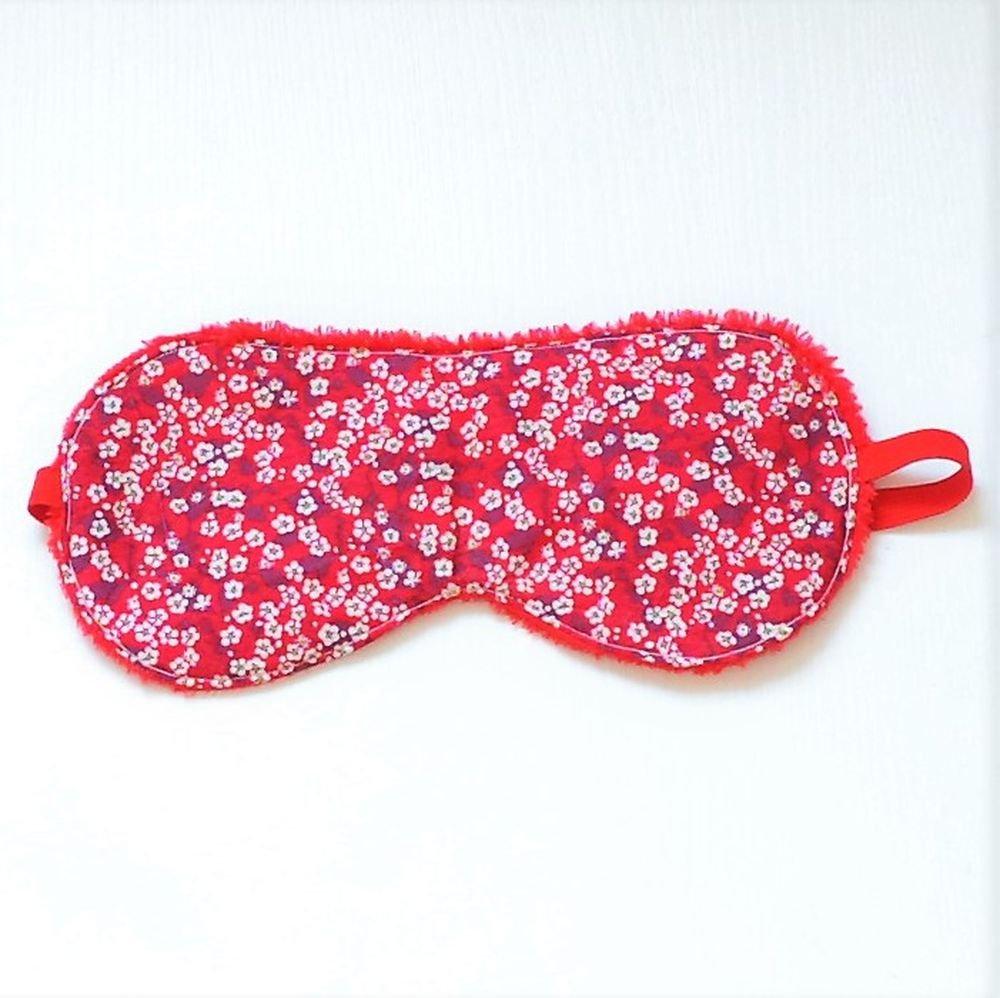 Masque de sommeil Liberty Mitsi valeria rouge--9995346796513