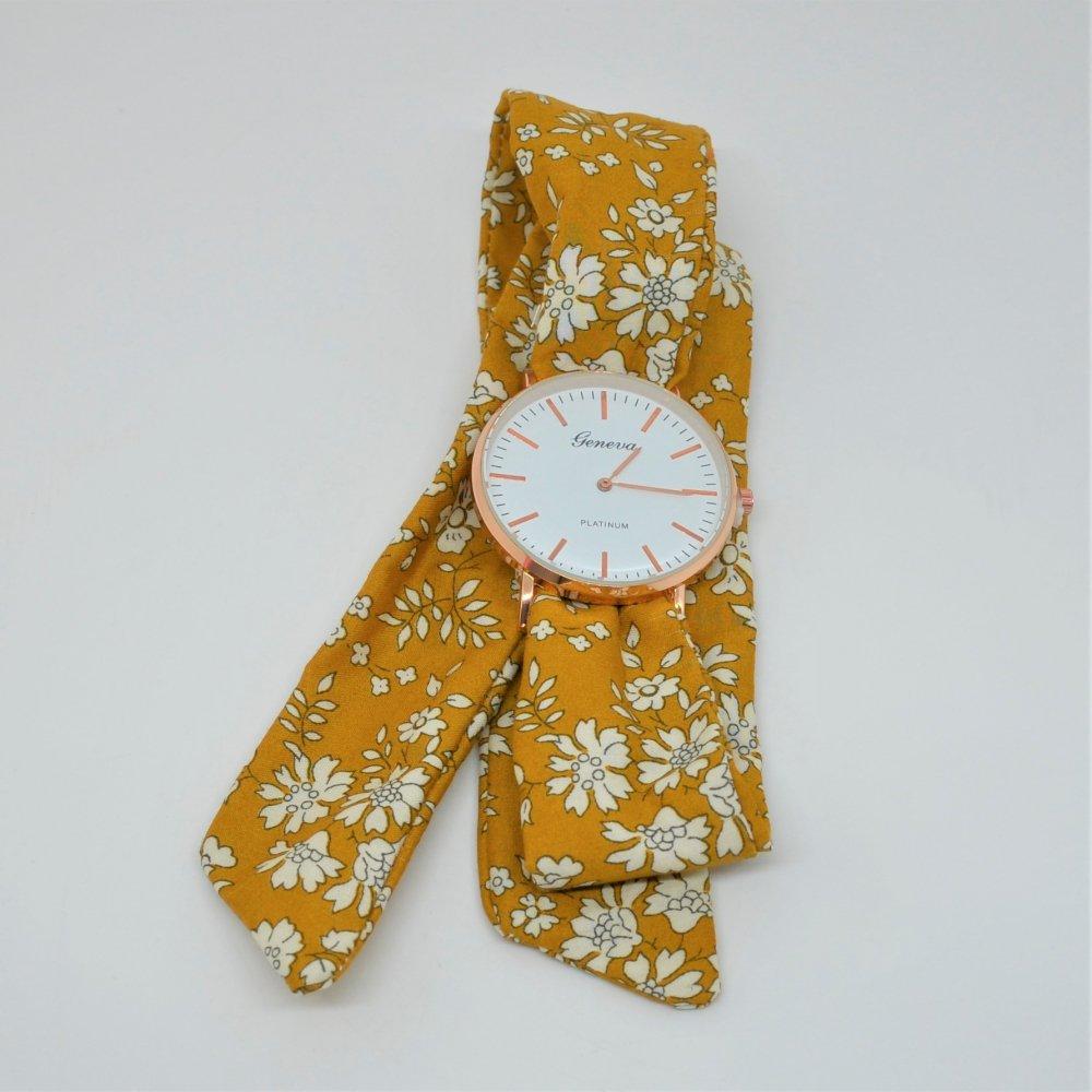 Montre à nouer bracelet Liberty capel moutarde--9996079475805