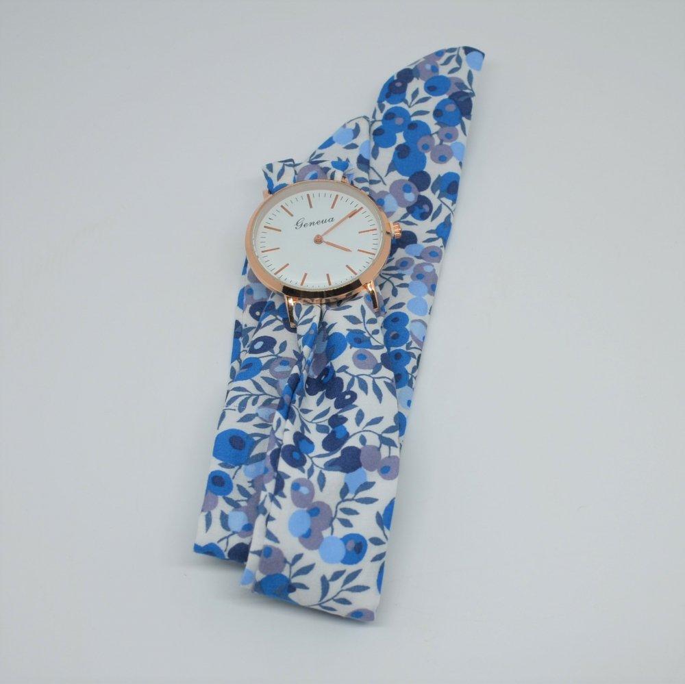 Montre à nouer bracelet Liberty Wiltshire bleu--9996052593427