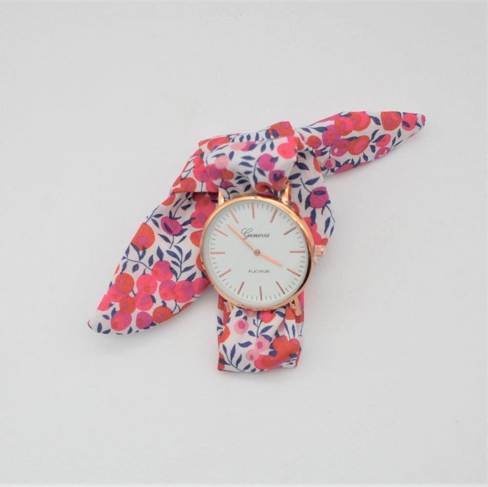 Montre à nouer bracelet Liberty Wiltshire rouge--9996045263733