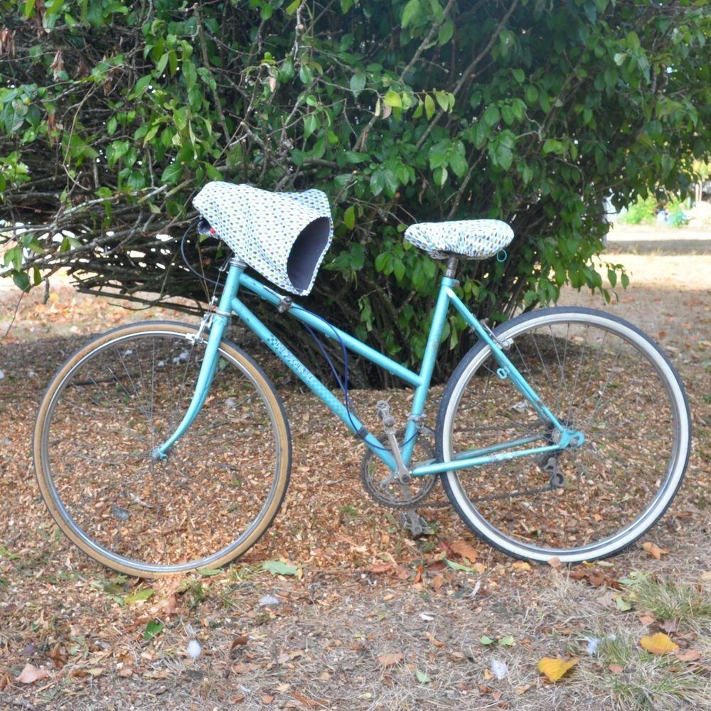 Protege mains guidon vélo impermeable et doublé polaire enduit motif gouttes et polaire grise--9995411092915