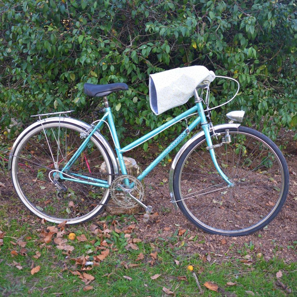 Protege mains guidon vélo impermeable enduit gouttes et doublé polaire grise--9996044200913
