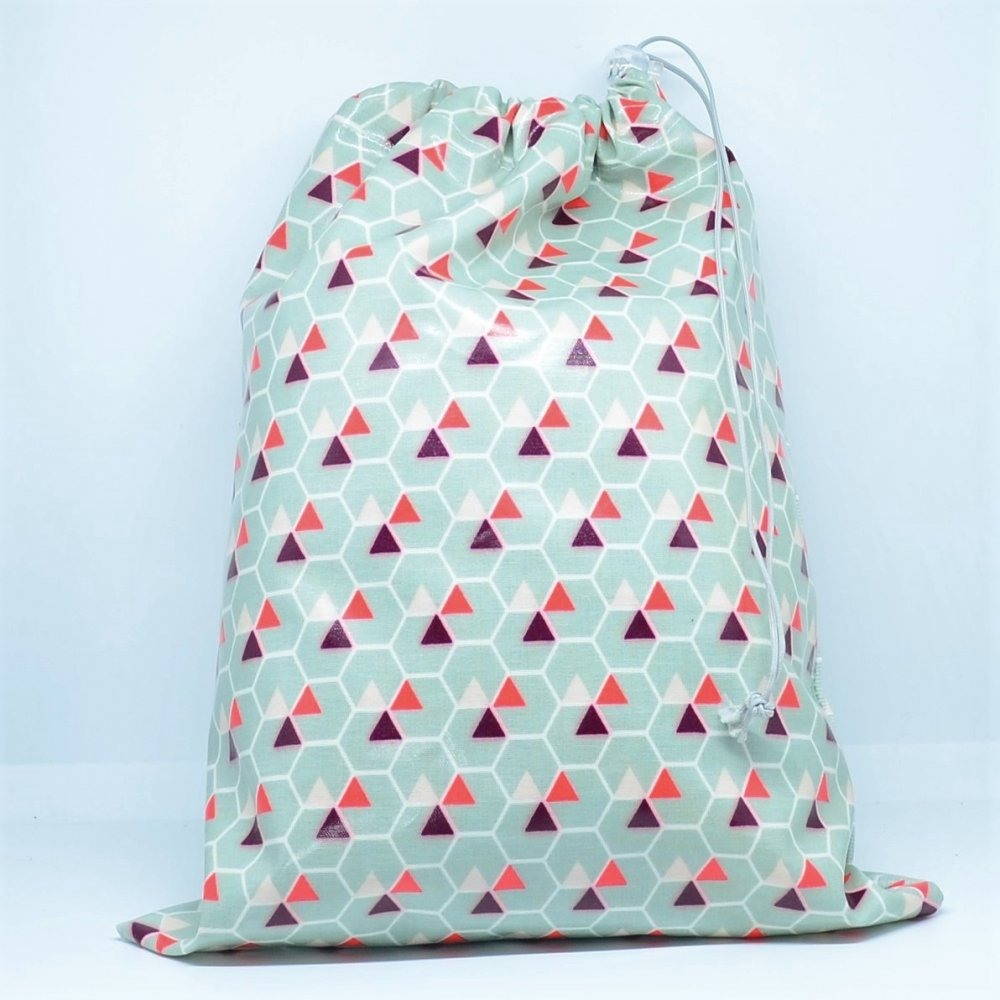 Sac gouter/piscine imperméable motifs géométriques--9995680898065