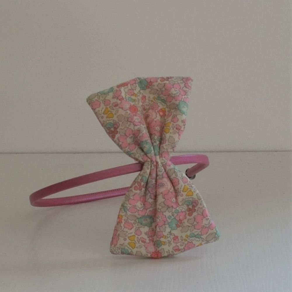 Serre tete noeud Liberty Betsy ann sweet pink--9995355284834