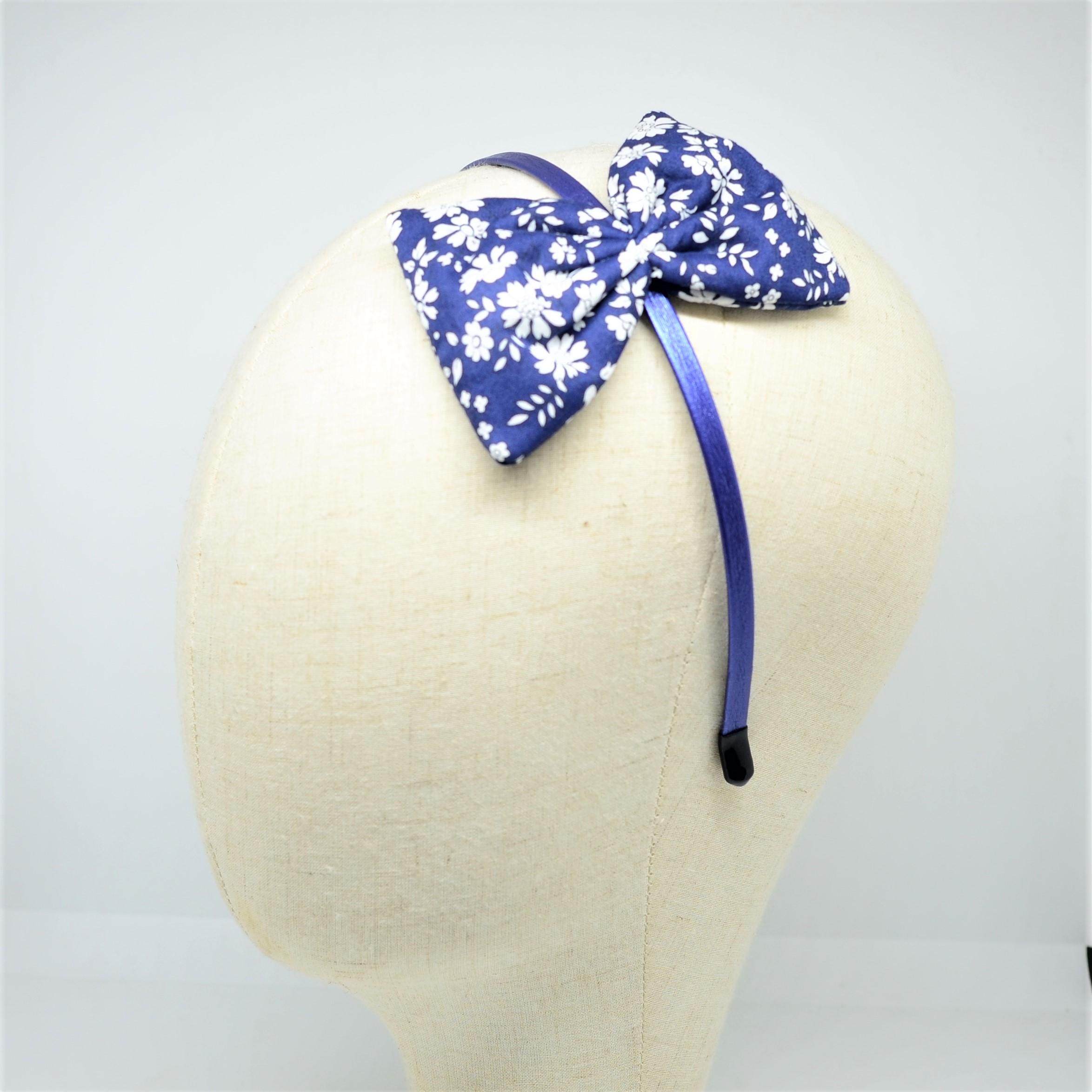 Serre tete noeud Liberty Capel bleu marine--9995810686470