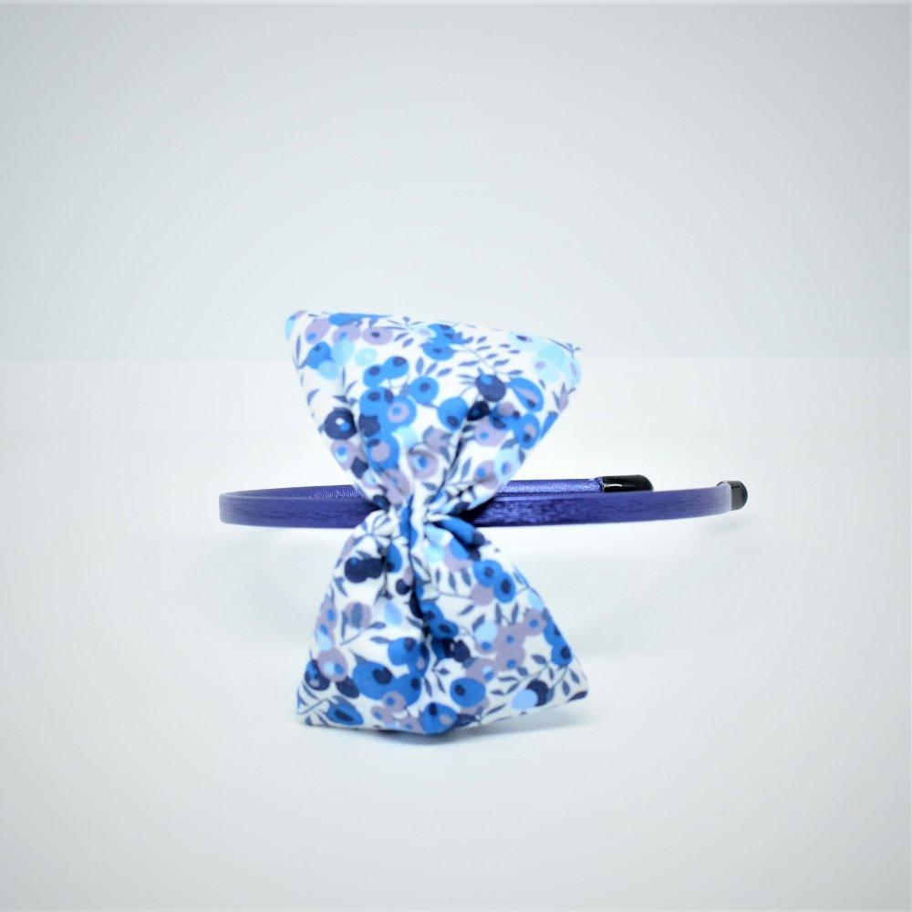 Serre tete noeud Liberty Wiltshire bleu curacao--9995810687408